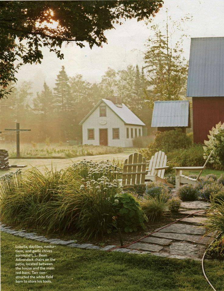 LLBean Adirondack chairs featured in  Country Living Magazine April 2014. 35 best images about The L L Bean Home on Pinterest   Painted