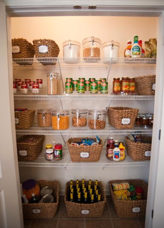 Put all those tiny items in labeled baskets and save time when cooking