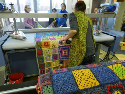 HAMK Staff crocheted 1134 granny squares in August. 10 blankets were made of these squares, and will be donated to charity.
