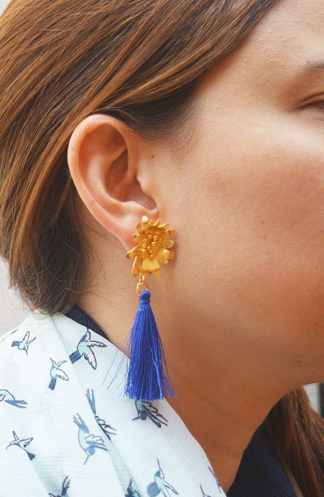 Earrings Dancing flower Sustainable jewelry-Lecat