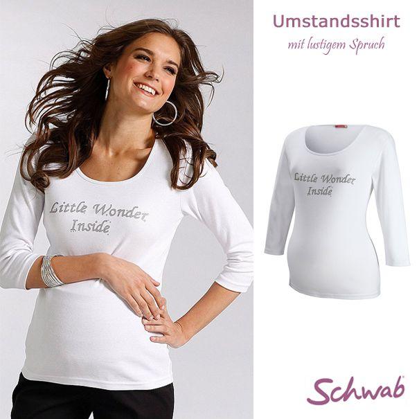 Bei Schwab findet Ihr Oberteile für jede Frau! Mit dem #Umstandsshirt kommt auch der Spaß in der Schwangerschaft nicht zu kurz.