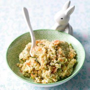 Kalkoen, wortel- en courgettepuree