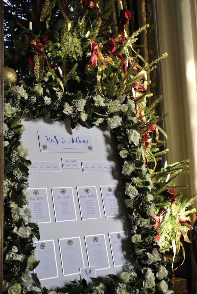This Sparkly Wedding Table Plan Is Finished With Cystal Snowflakes Perfect For A Winter