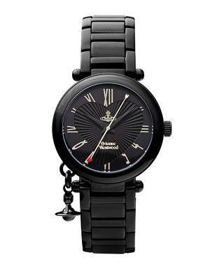 Orb black stainless steel watch Sale - Vivienne Westwood Sale