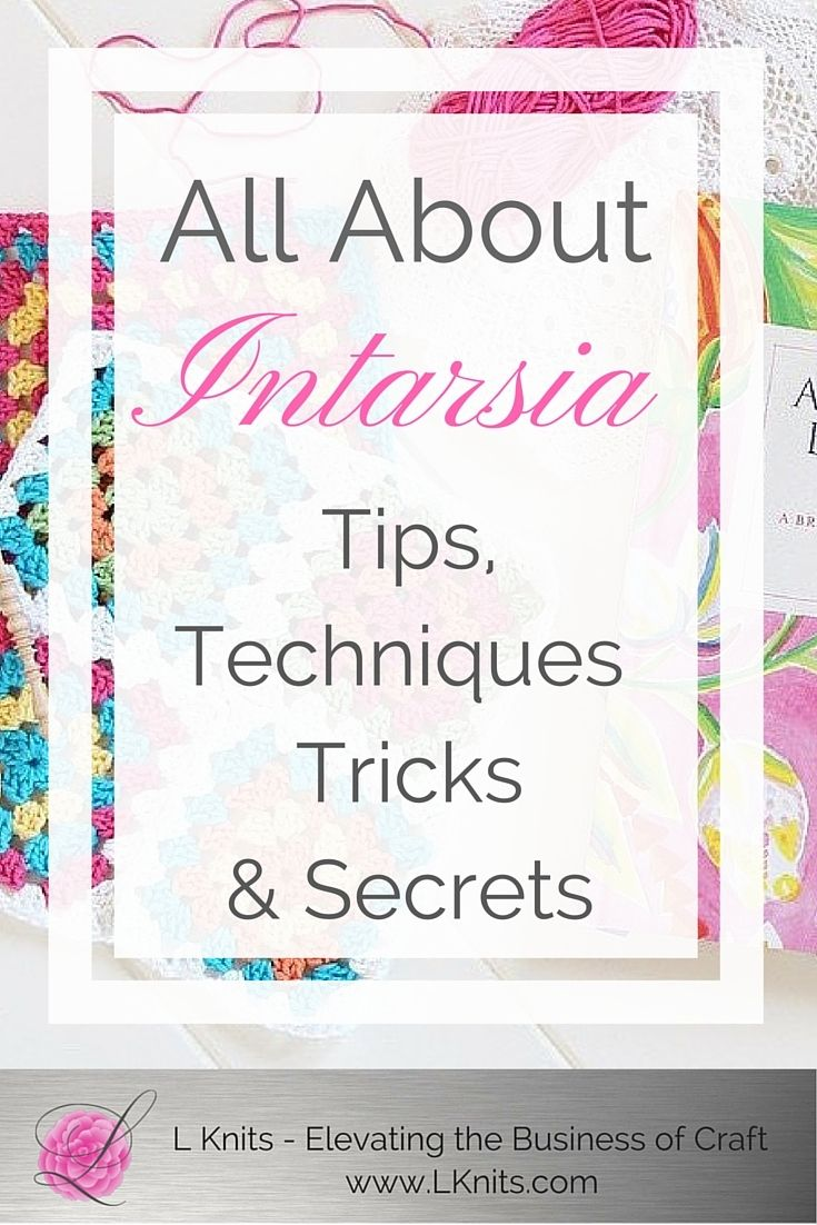 Intarsia: What is it & how do you use it? Also called picture knitting, is a technique used to create areas of color in your knitting. It's a wonderful method to use when you want to incorporate a variety of designs, shapes and color to your project.