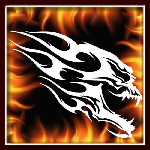 Skull 125 Airbrush Stencil Template Motorcycle Chopper