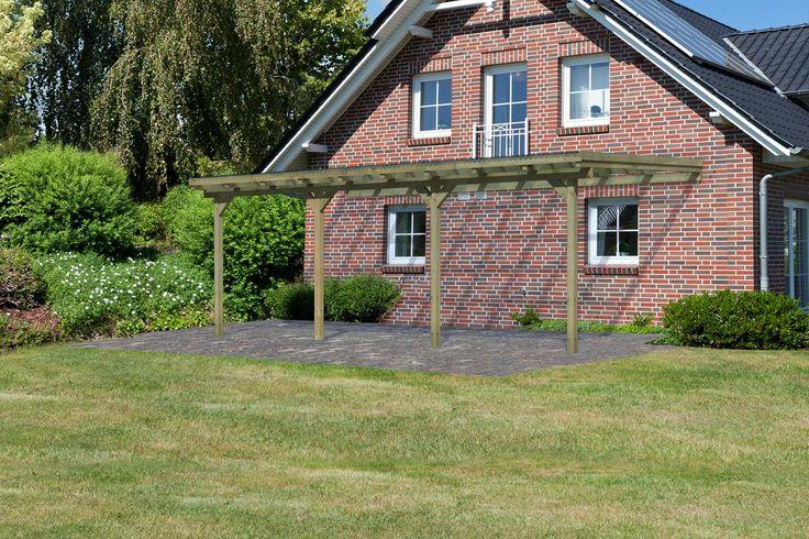 Decouvrez cette Pergola Auvent en Bois 576 × 273 cm (14.73m2) avec Toit en PVC + Double Extensions ECO2C a prix reduit ! - LeKingStore