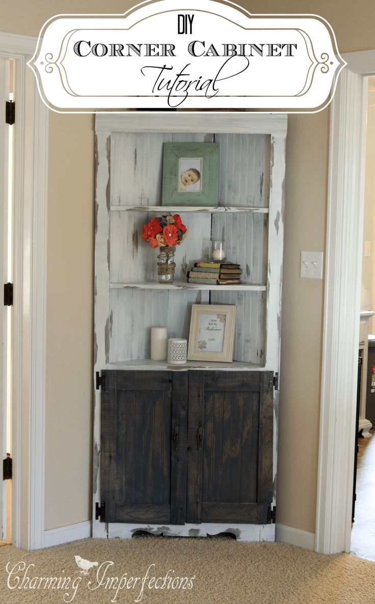 Living Room Corner Cabinet