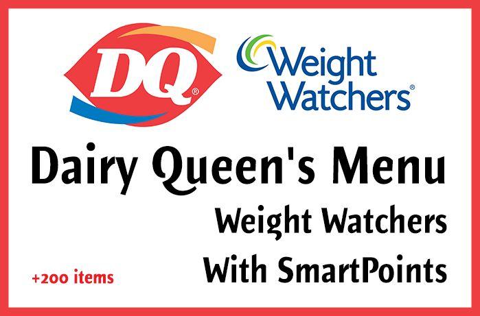 Dairy Queen's Menu Weight Watchers SmartPoints