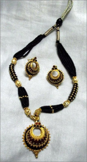 Indian Assamese Jewellery Keru with red & by RamdhenuEmporium, $51.00