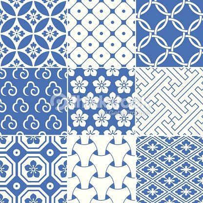 Vektorgrafik : vintage japanische traditionelle Muster