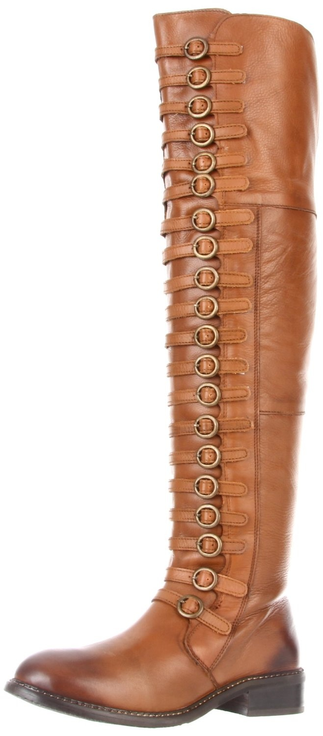 luichiny true fit flat boot in cognac these boots are
