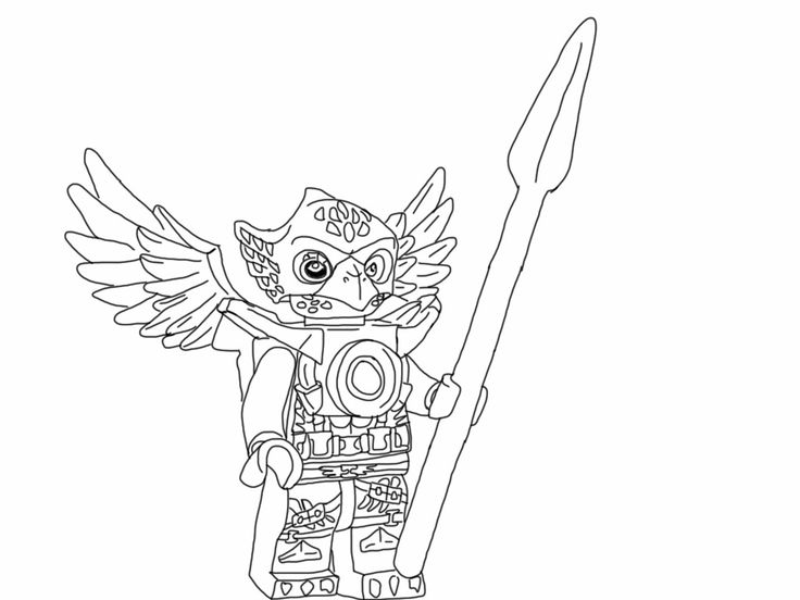 Lego Chima Coloring Page Eagle My Free Coloring Pages