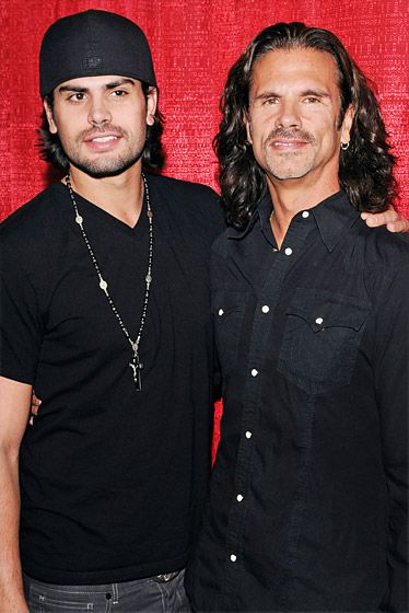 Lorenzo vs. AJ Lamas Lorenzo Lamas, became estranged from his son, A.J. Lamas, after reports surfaced in 2002 that Lorenzo's wife, Shauna Sand, had an affair with her stepson, then 18. A.J. denied the reports and their feud was aired on the family's 2009 reality show, Leave It to Lamas.