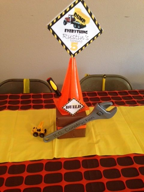 Centerpieces For Construction Theme Photo 11 Of 21