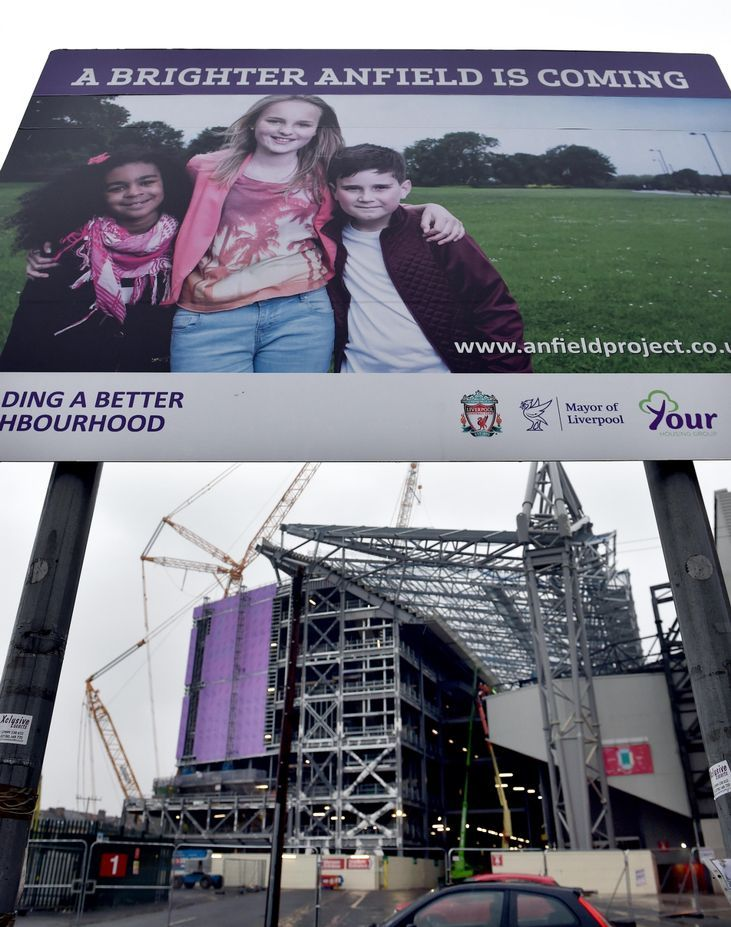 Liverpool FC main stand development: Sheer size of project clear...: Liverpool FC main stand development: Sheer size of project… #Liverpool