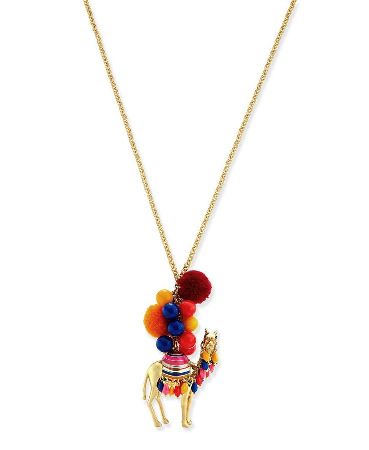 kate spade new york Gold-Tone Colorful Camel Pendant Necklace