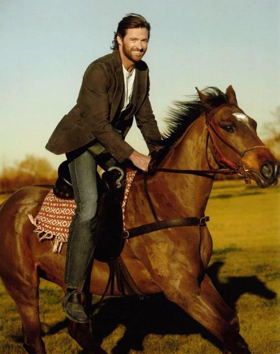 Horses and Hugh - what a combination - I've died and gone to heaven!!