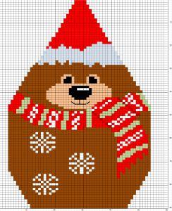 Nounours en 3D la grille 2012 dans Grille offerte ours-noel11-244x300