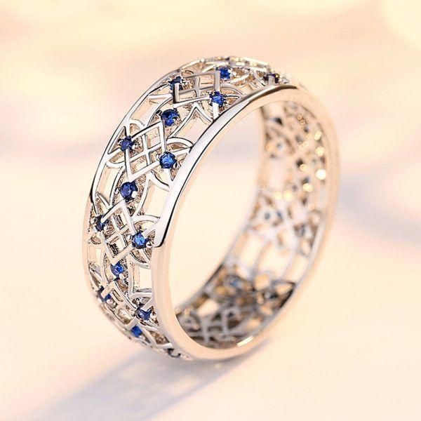 Beaver Cubic Zirconia Ring For Women S Wedding Ring Glam Circle White Gold Rings Wedding Rings For Women Moissanite Wedding Ring Set