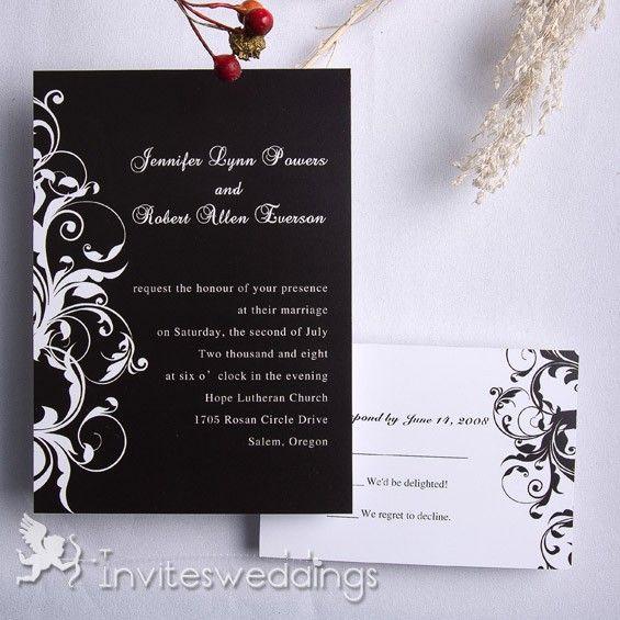 Best Online Wedding Invitations: 52 Best Images About Black Wedding Invitations On Pinterest