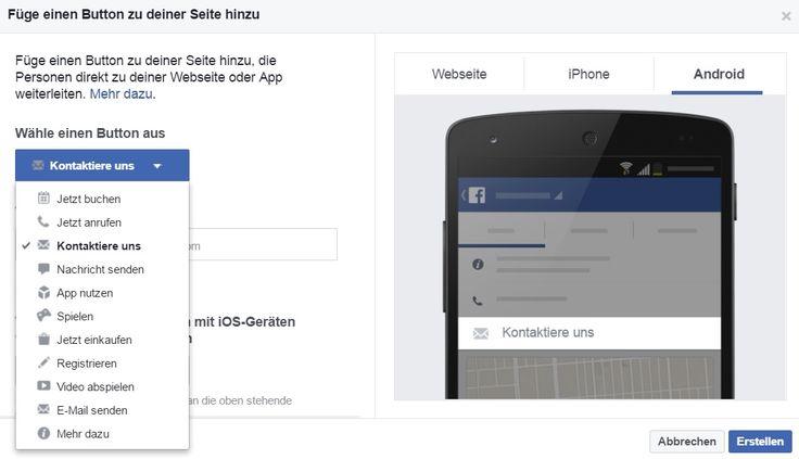 Zeit um den Call-to-Action Button zu aktualisieren. Es sind jede Menge neuer Funktionen im Anflug. Es lassen sich externe Dienste einbinden oder direkt mit dem Facebook Messenger verbinden.