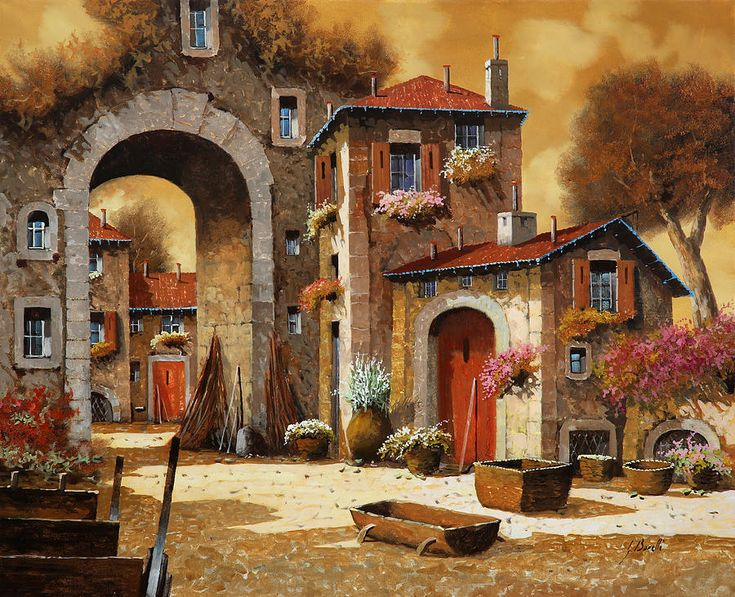 Giallo Painting Guido Borelli