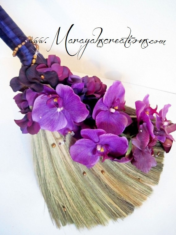 Wedding Broom Jumping Broom  Custom Made for by marayahscreations, $54.00