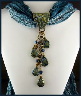 2 Good Claymates: More Scarf Jewelry