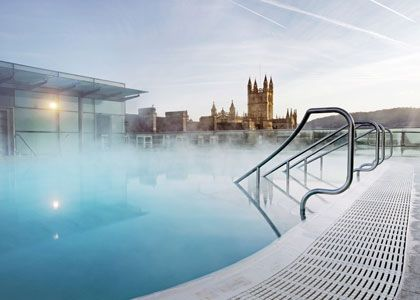 Thermae Bath Spa - natural thermal spring water fills the baths.