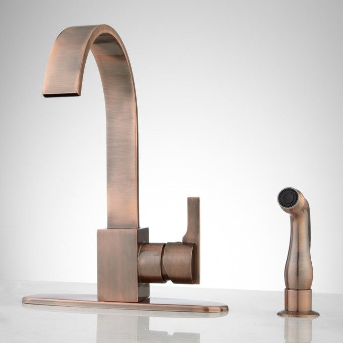 Kitchen Faucet with Side Spray  Faucets, Kitchen Faucets and Copper