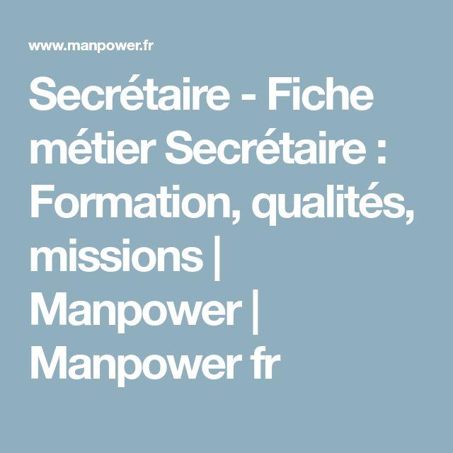 Secrétaire - Fiche métier Secrétaire : Formation, qualités, missions | Manpower | Manpower fr