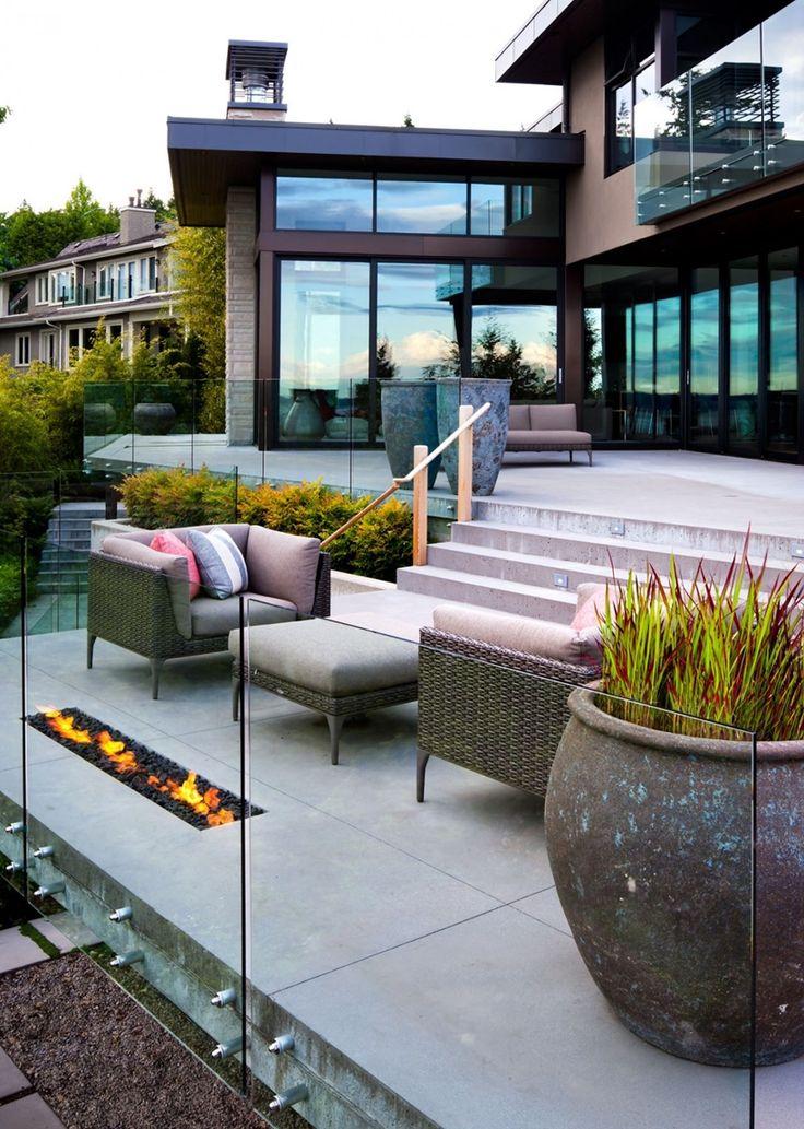 Good Terrasse Im Eleganten Modernen Haus In West Vancouver, Kanada