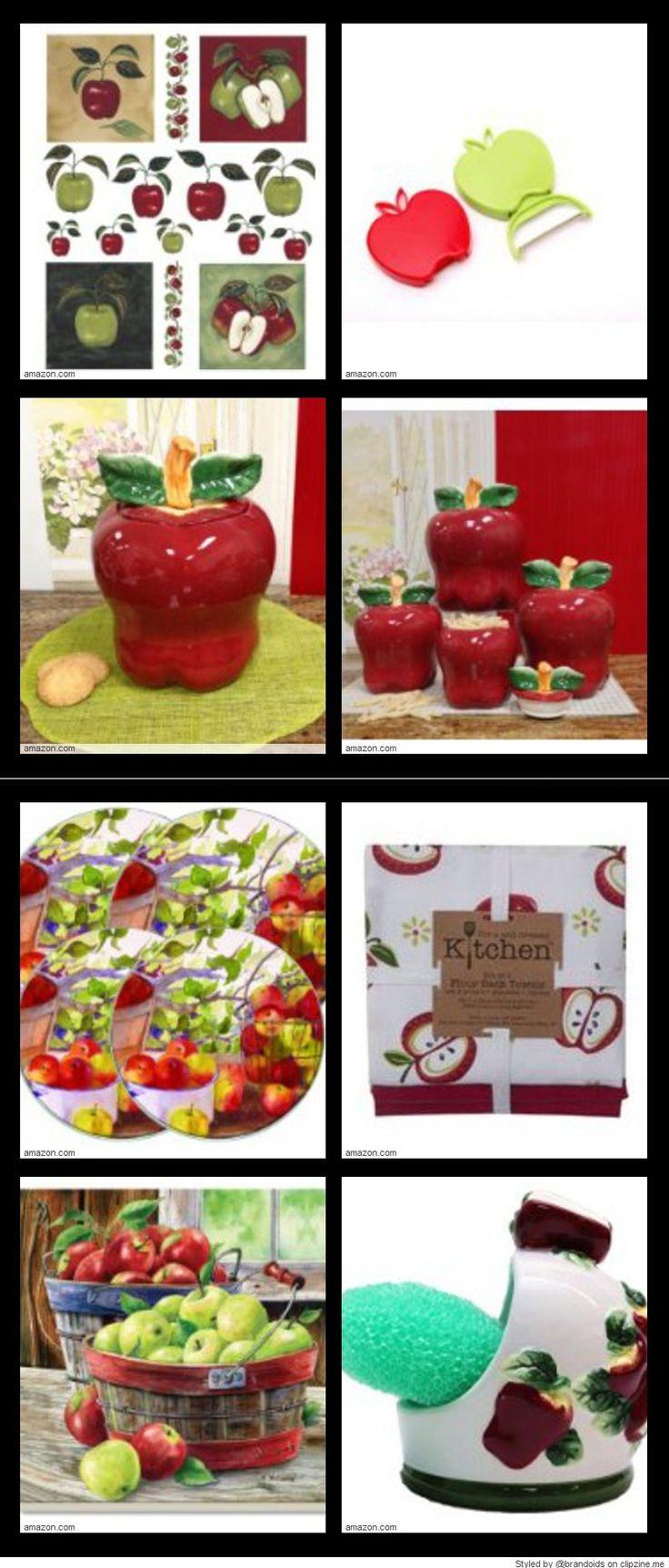 25 best ideas about apple kitchen decor on pinterest - Kitchen curtains with fruit design ...