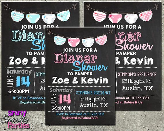 "DIAPER PARTY INVITATION - ""Diaper Shower Invitation"" - Couples Shower - Coed Shower - Diaper and Wipes Party - Baby Sprinkle - Baby Diaper"