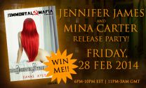Swag for Mina Carter and Jennifer James release party on the 28th Feb 2014 - https://www.facebook.com/events/587195944706861/?source=1 - look at all the pretties you could win!!