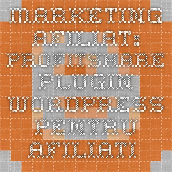 MARKETING AFILIAT: Profitshare - Plugin WordPress pentru afiliati Daca ai un blog sau mai multe, daca ai un site sau mai multe, daca ai un cont pe Twitter sau pe Facebook, nu le tine degeaba, fa bani cu ele. E simplu. Inscrie-te in Profitshare!  Pana in urma cu ceva vreme, platforma mergea doar pe blogger...  De acum, posesorii de bloguri pe platforma WordPress au posibilitatea să promoveze advertiserii din rețeaua de afiliere a Profitshare.  Multă vreme posesorii de bloguri pe WordPress nu…