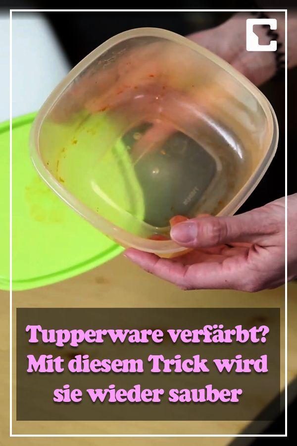 Tupperware verfärbt? Mit diesem Trick wird sie wieder sauber
