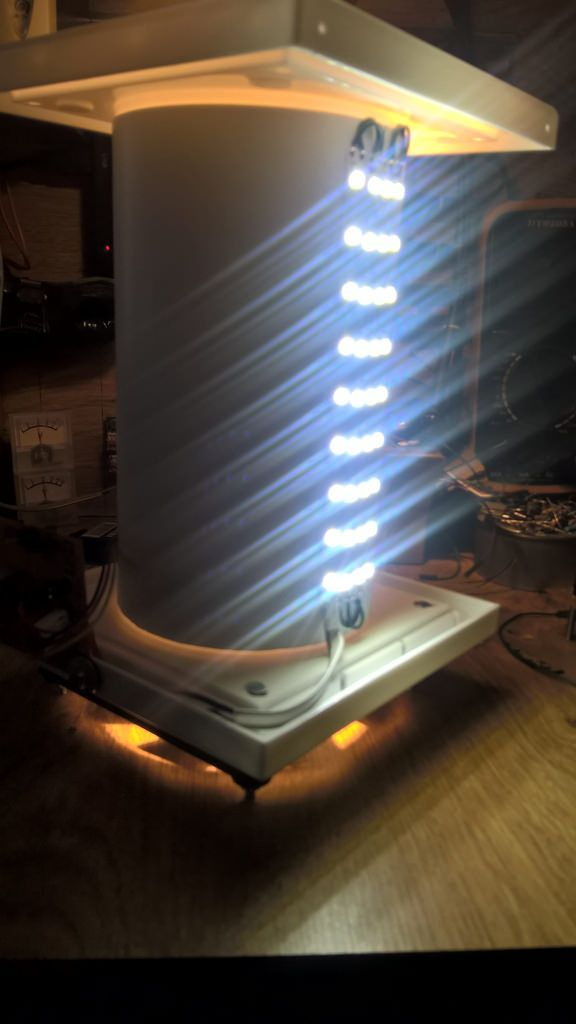 A lamp and a solar air purifier