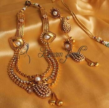 Beautiful antique pearl mango necklace set