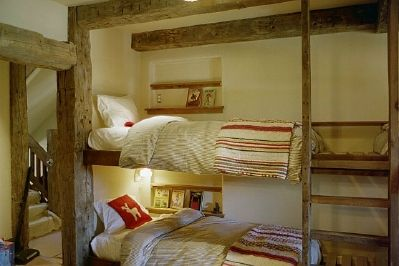 Rustic bunkbeds for cabin