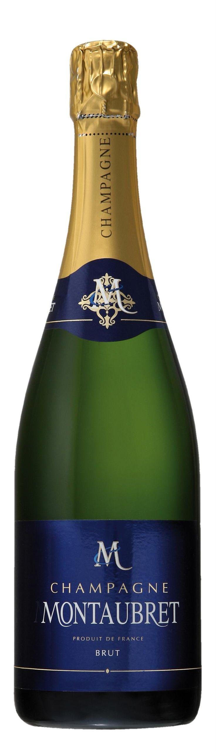 Montaubret Champagne Brut. France: Pinot noir. 22,90 €, Erittäin kuiva, hapokas, sitruksinen, viheromenainen, kevyen yrttinen, mineraalinen