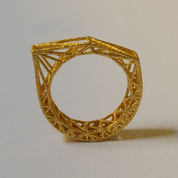designyoutrustAtoms, Gold Plates, 3Dprint, Brooklyn Rings, Gold Jewelery, Gold 3D, Structures Rings, Comercial Jewellery, Industrial Rings