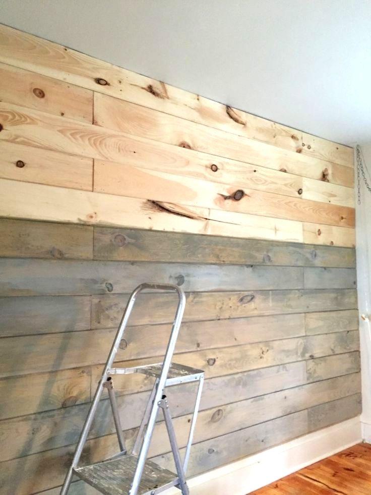 Eine Wand aus Brettern mit Milchfarbe ausmalen … #Farbe …