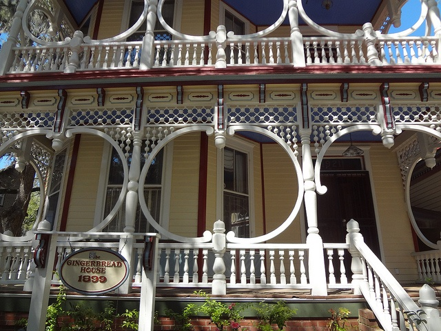 Up of the gingerbread house located on 1921 bull street savannah ga