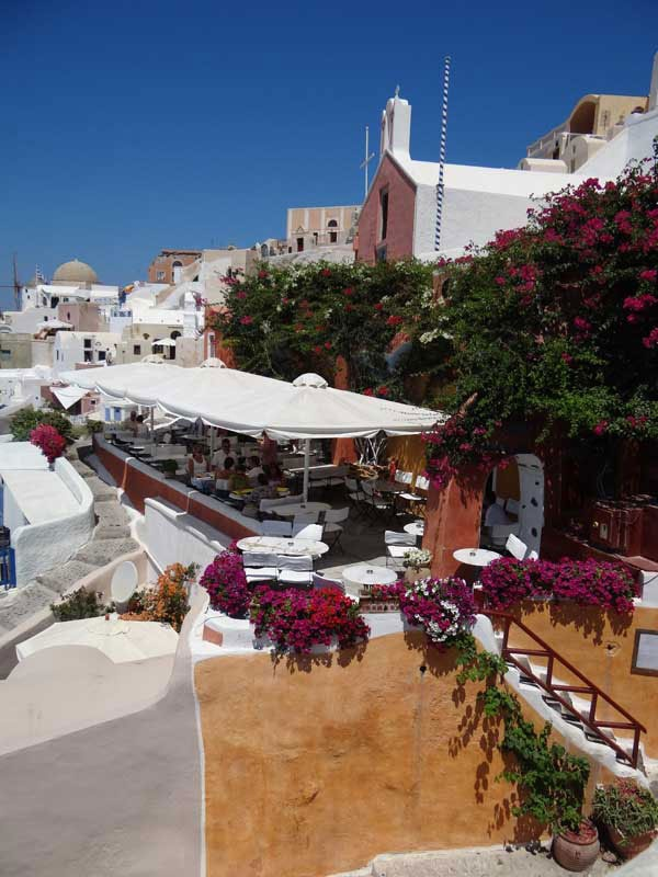 This restaurant in Oia serves a delightful lamb dish.