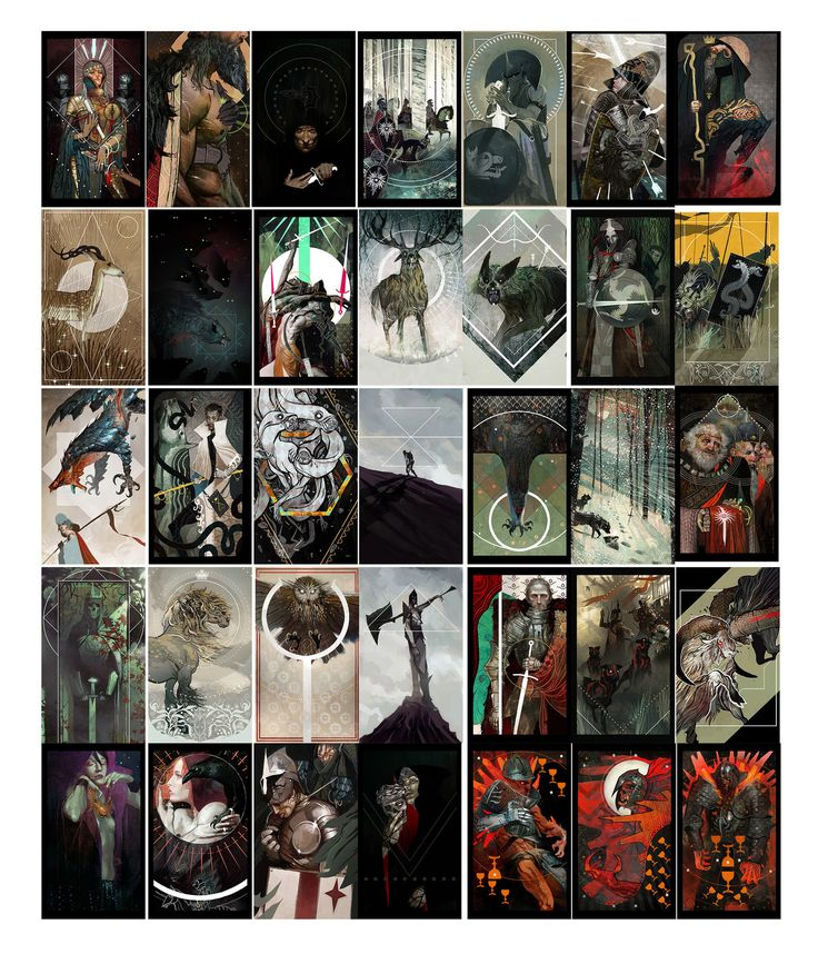 DA Inquisition tarot cards., Casper Konefal on ArtStation at https://www.artstation.com/artwork/gW5DZ