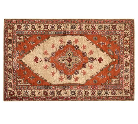 "Apparently no longer available from them but you can get a ""swatch"".  Might be available somewhere else.    Sahara Persian-Style Rug, 5X8', Orange Multi"