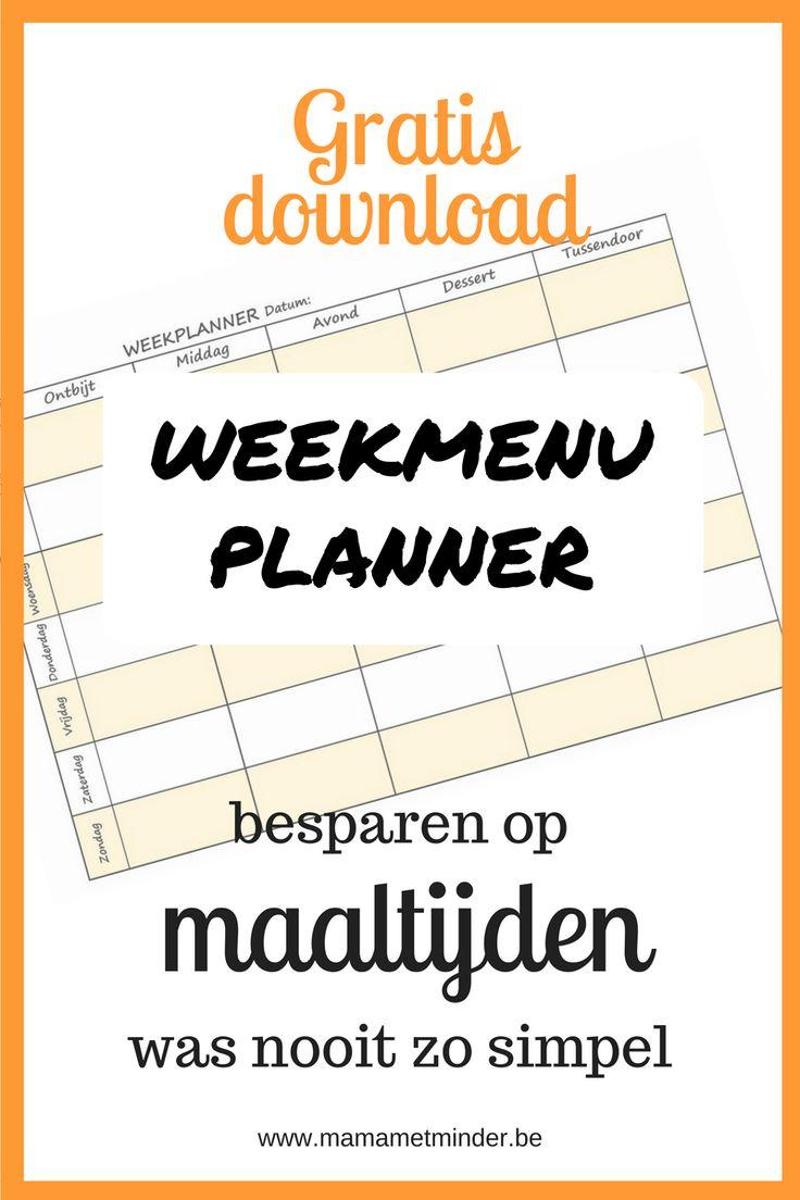 Besparen op maaltijden is eenvoudig met een weekmenu planner. Hoe gebruik je een menuplanner? Met gratis download.