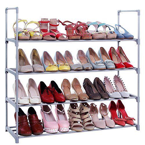 Songmics 4-Tier Shoe Rack Shoe Tower Shelf Storage Organizer Cabinet Grey ULSA14G SONGMICS http://www.amazon.com/dp/B013LCFM0Q/ref=cm_sw_r_pi_dp_HWY6wb1FEW3CS